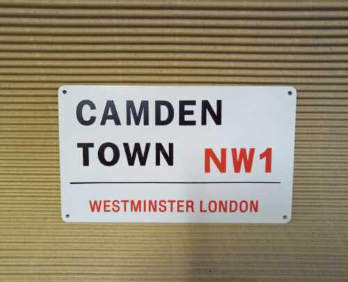 Retro Metal Wall road Sign plaque Abbey road /& Camden town LONDON STREET SIGN