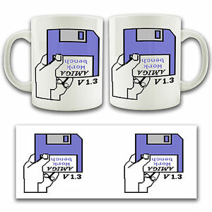 Details about Commodore AMIGA WORKBENCH Retro Gaming Ceramic Mug Tea Coffee  Cup Insert Disk