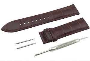 Correa-de-Cuero-Genuino-Marron-Oscuro-Tissot-Watch-Broche-de-ajuste-de-banda-de-18-19-20-21-22-mm