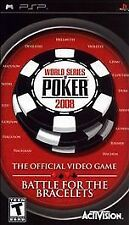 World Series of Poker 2008 Battle for the Bracelets UMD PSP W/CASE SONY PORTABLE
