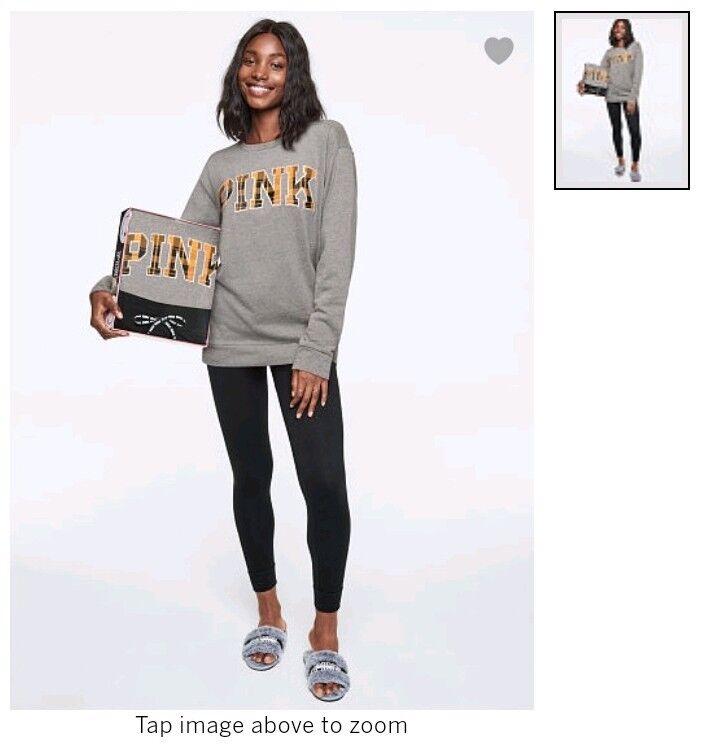 Victoria Secret PINK Campus Crew & Leggings Gift Set NEW SIZE small