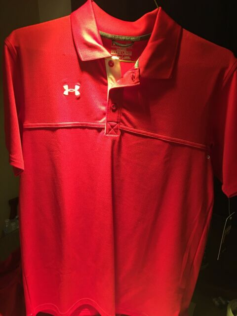 Details about  /NEW UNDER ARMOUR SC FLOOR GENERAL SZ L 1287773 600 RED LOOSE HEATGEAR T SHIRT
