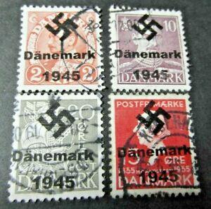 WW2-DENMARK-DANMARK-Stamps-WWII-Third-Reich-GERMANY-Stamp-SS-018