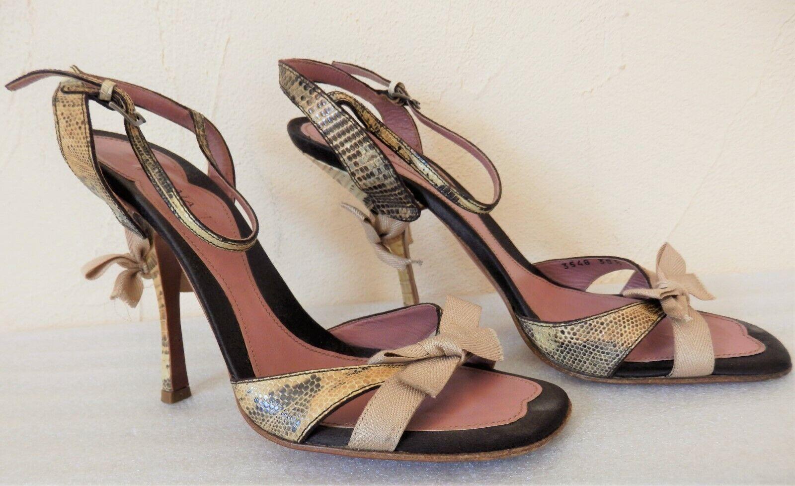 oferta de tienda Alaia - - - Sandalias de Tacón - Cuero Lagarto - Número 38,5 - Auténtico  en stock