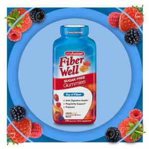 vitafusion-Fiber-Well-Sugar-Free-220-Gummies-New-Free-Shipping