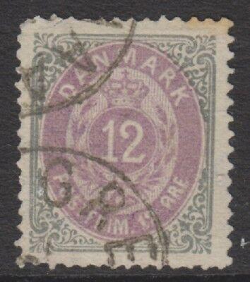 12 Ore Matt Violett & Blassgrau Stempel F/u 1875/1903 Sg 62 Stetig Dänemark