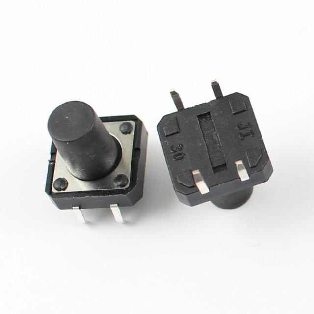 100Pcs Momentary Tactile Tact Push Button Switch 4 Pin DIP 12x12x12mm