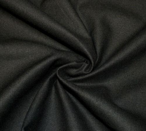 Black Thick 100/% Cotton Fabric 90cm wide.