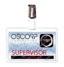 Spiderman Oscorp Industries Supervisor ID Badge Marvel Cosplay Prop Comic Con
