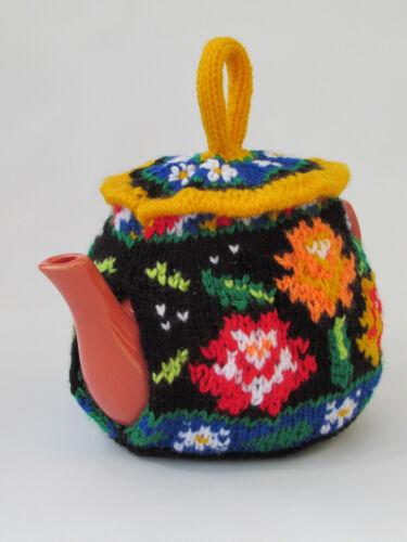 Canal boat roses et marguerites Tea Cosy Tricot Motif À tricoter votre propre