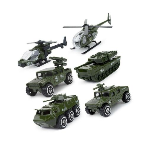 Details about  /JQGT Diecast Military Vehicles Army Toy 6 in 1 Assorted Metal Model Cars Figh...