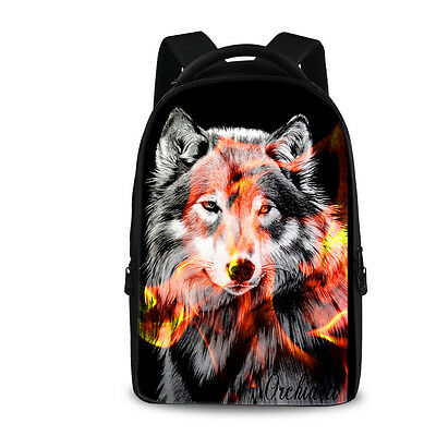 Wolf Laptop Bag Men Hiking School Backpack Women Man Shoulder Messenger Rucksack