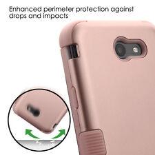 Samsung Galaxy J7 PRIME J727T 2017 -Hybrid Shockproof Armor Phone Case Rose Gold