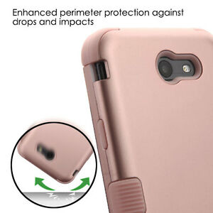 huge selection of 5afb5 58b0c Details about Samsung Galaxy J7 PRIME J727T 2017 -Hybrid Shockproof Armor  Phone Case Rose Gold