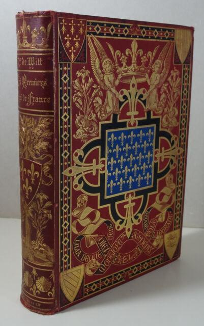 Les premiers Rois de France Mérovingiens Cartonnage Hachette 1895 chromolithogr.