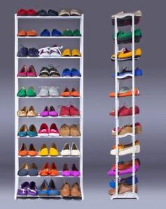 Fantastisch Das Bild Wird Geladen 10 Stoeckig Metall Schuhablage Schuhschrank Schuhregal  Schuhstaender Schuhe