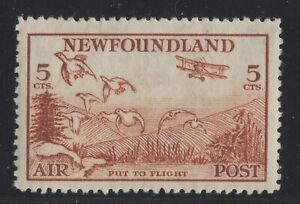 C13iii-perf-13-8-Air-Mail-Newfoundland-Canada-mint-well-centered