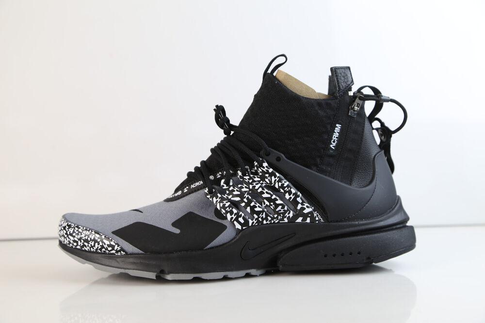 Nike X Acronym Air Presto Mid Cool Gris noir 2018 AH7832-001 5-14