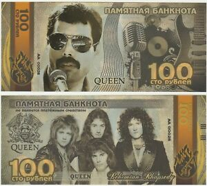 Russia-100-Rubles-2019-UNC-Commemorative-Polymer-Banknote-Queen-Freddy-Mercury