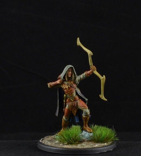 Arquero elfo de madera pintada macho de Dark Sword Miniatures, D&D carácter, Ranger