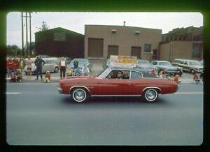 Vtg-1971-35mm-Slide-1972-Chevelle-Malibu-Car-in-Parade-Erie-PA-Fire-Dept