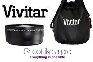 New Pro Hi Def 22x Telephoto Lens For Canon Vixia Hv40 Ebay