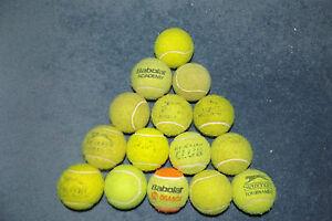 100% Vrai 15 Utilisées Balles De Tennis Chien Jouets Play Beach Cricket Beaucoup De Marque Bon état-afficher Le Titre D'origine