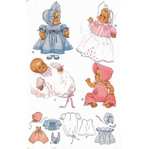 Vintage Doll Clothes PATTERN 713 for 20 in Dy Dee Little Girl Doll by Effanbee