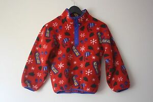 Ll Bean Christmas Trees.Details About Ll Bean Vtg Classic Kids Size Small S Pullover Fleece Sled Holiday Christmas Red
