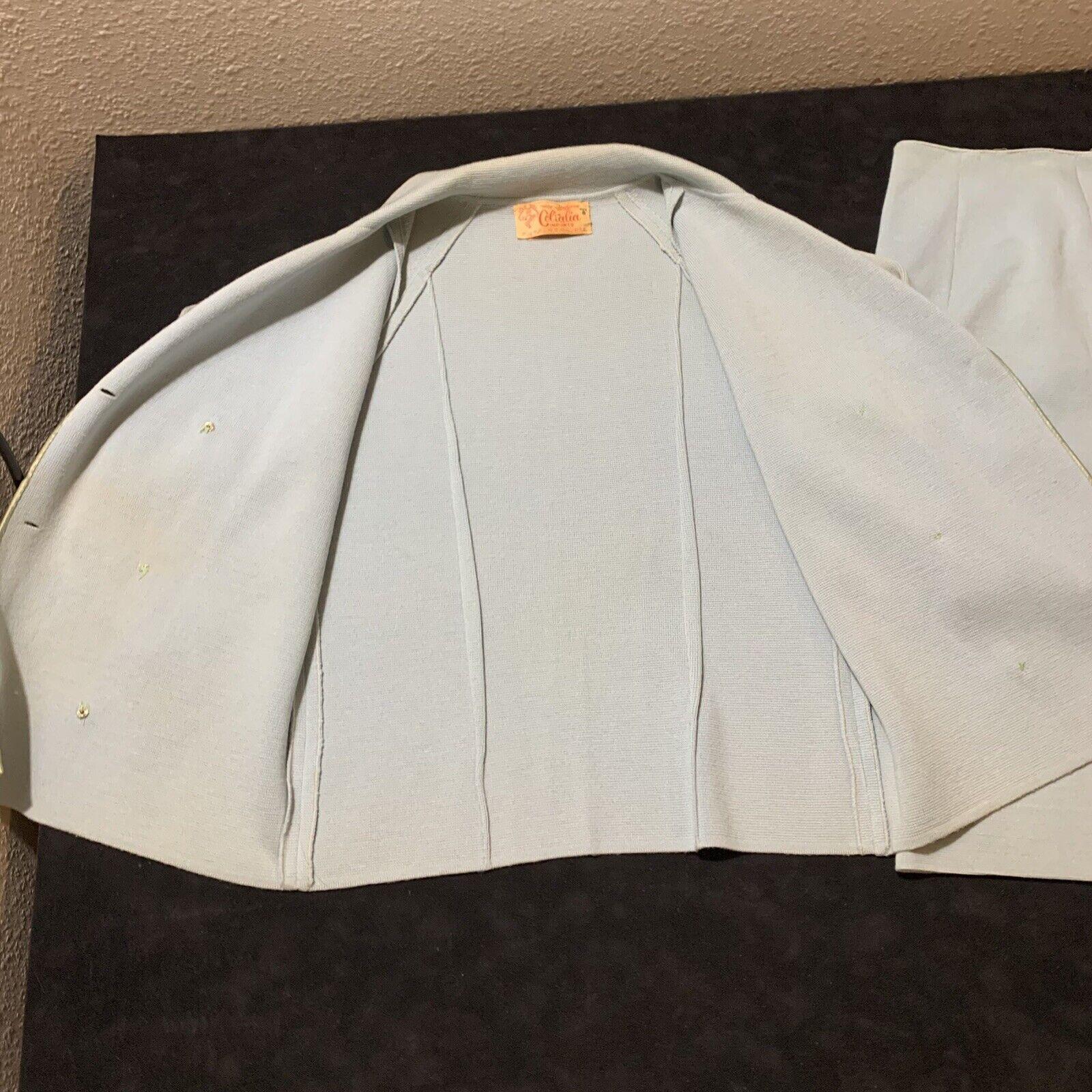 Vintage Coltalia Italy Wool Open Blazer Skirt Sui… - image 6