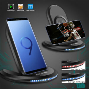 For-Samsung-Galaxy-S8-S9-Plus-Wireless-Qi-Fast-Charger-Charging-Stand-Dock-PadME
