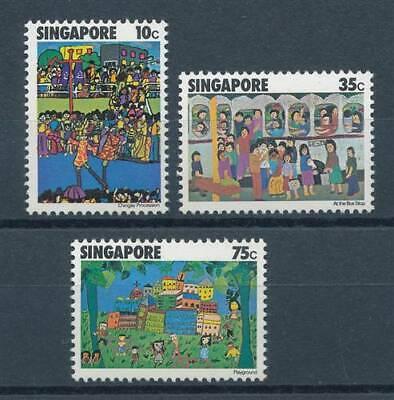 Gewissenhaft 198691 Briefmarken China Singapur Nr.288-290** Kinderzeichnungen Grade Produkte Nach QualitäT