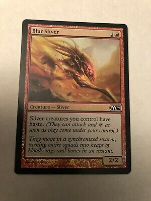 Blur Sliver FOIL Magic 2014 M14 NM Red Common MAGIC GATHERING CARD ABUGames