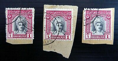 1a Sg22 Cat £20 Fine/used See Below Ef11 Shrink-Proof Stamps Self-Conscious Bahawalpur 1948 G.vi
