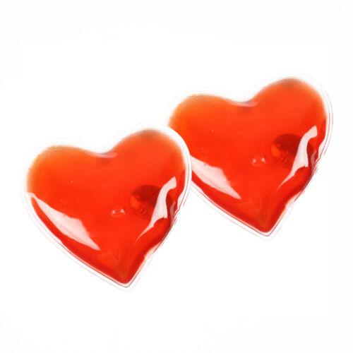 Set of 2 Reusable Gel Heat Pads//Hand Warmers in Heart Shape Skiing//Handwarmer