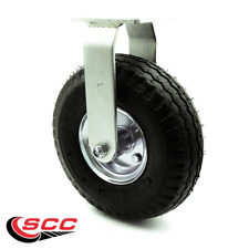 10 Inch Black Pneumatic Wheel Rigid Caster Service Caster Brand