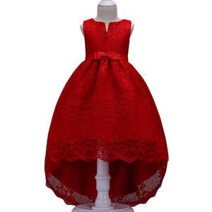 ad11d76e55cb Details about Vestidos para niñas Elegantes flores de encaje Moda Princesa  Vestido largo Ropa