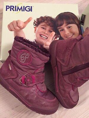 Gefütterte warme Marken Leder wasserdichte Kinder Boots Stiefel Primigi UVP 85EUR