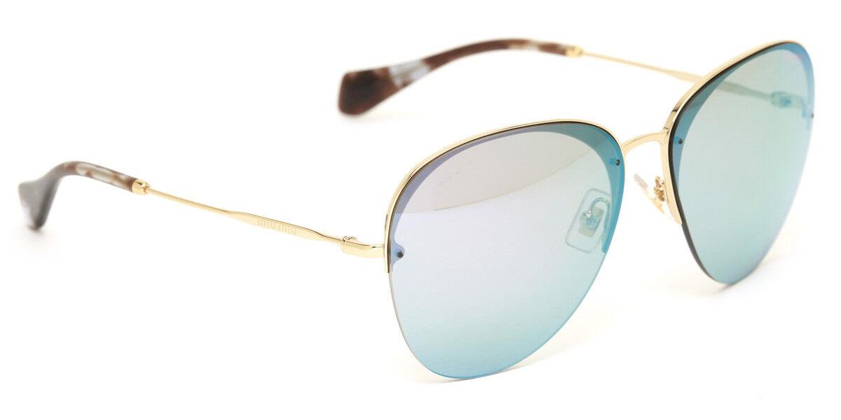 46ff907e9946 RARE Genuine MIU MIU Pink Silver Mirror Pale Gold Sunglasses SMU 53P  ZVN-4L2 for sale online   eBay