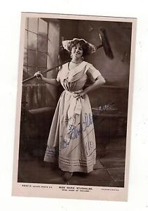 MISS-MARIE-STUDHOLME-AUTOGRAPHED-SIGNED-OLD-REAL-PHOTO-POSTCARD