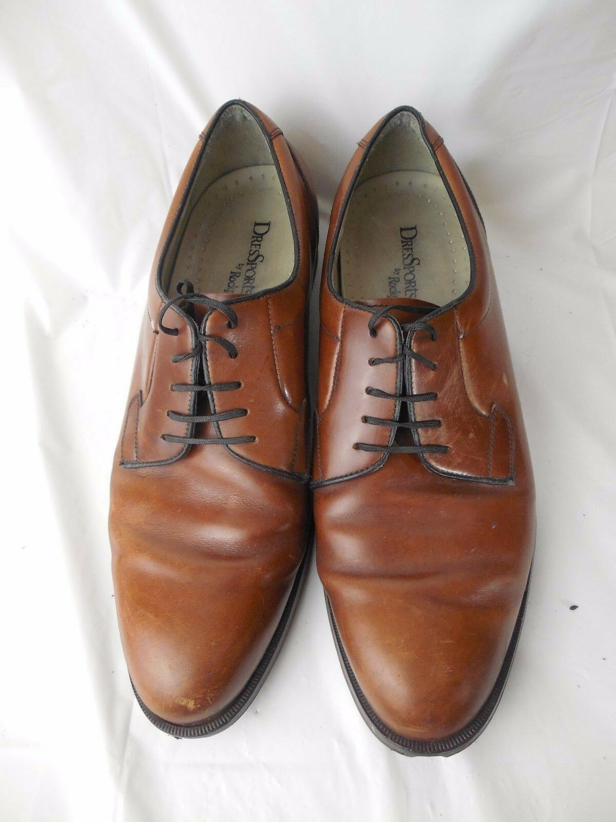 Rockport DresSport Oxford Shoes Mens Mens Mens 9 N Narrow Vibram Soles M3441 Brown Leather dc66e5