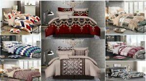Cubierta-del-edredon-edredon-con-hoja-equipada-2-Fundas-Almohada-de-ropa-de-cama-doble-King-Size