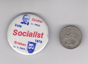 1976 Socialist Zeidler Brisben button pinback