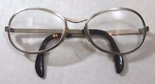 Eyeglasses Frames vtg Silver Tone wire Spectacles Made in Italy 52-20-115 Unisex