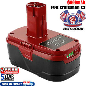 C3-19-2-Volt-Lithium-XCP-6-0Ah-Battery-For-Craftsman-11375-11376-130279005-P2011