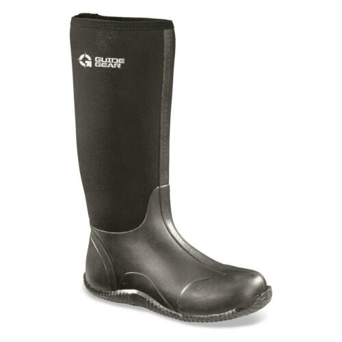 New Guide Gear Men/'s High Bogger Waterproof Rubber Boots Sizes 8-14 Black
