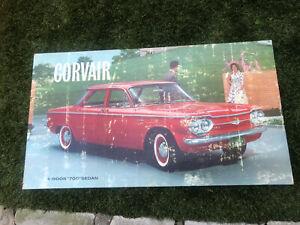 Brilliant Details About Vintage Corvair Original Gm Dealer Showroom Poster Sign 32X18 Cardboard Download Free Architecture Designs Scobabritishbridgeorg