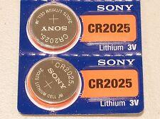 2 pc SONY cr2025 lithium 3v battery cr 2025  EXPIRATION 2026