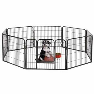 "BestPet 24"" 32"" 40'' 8 Panel Heavy Duty Pet Playpen Dog Exercise Pen Cat Fence"