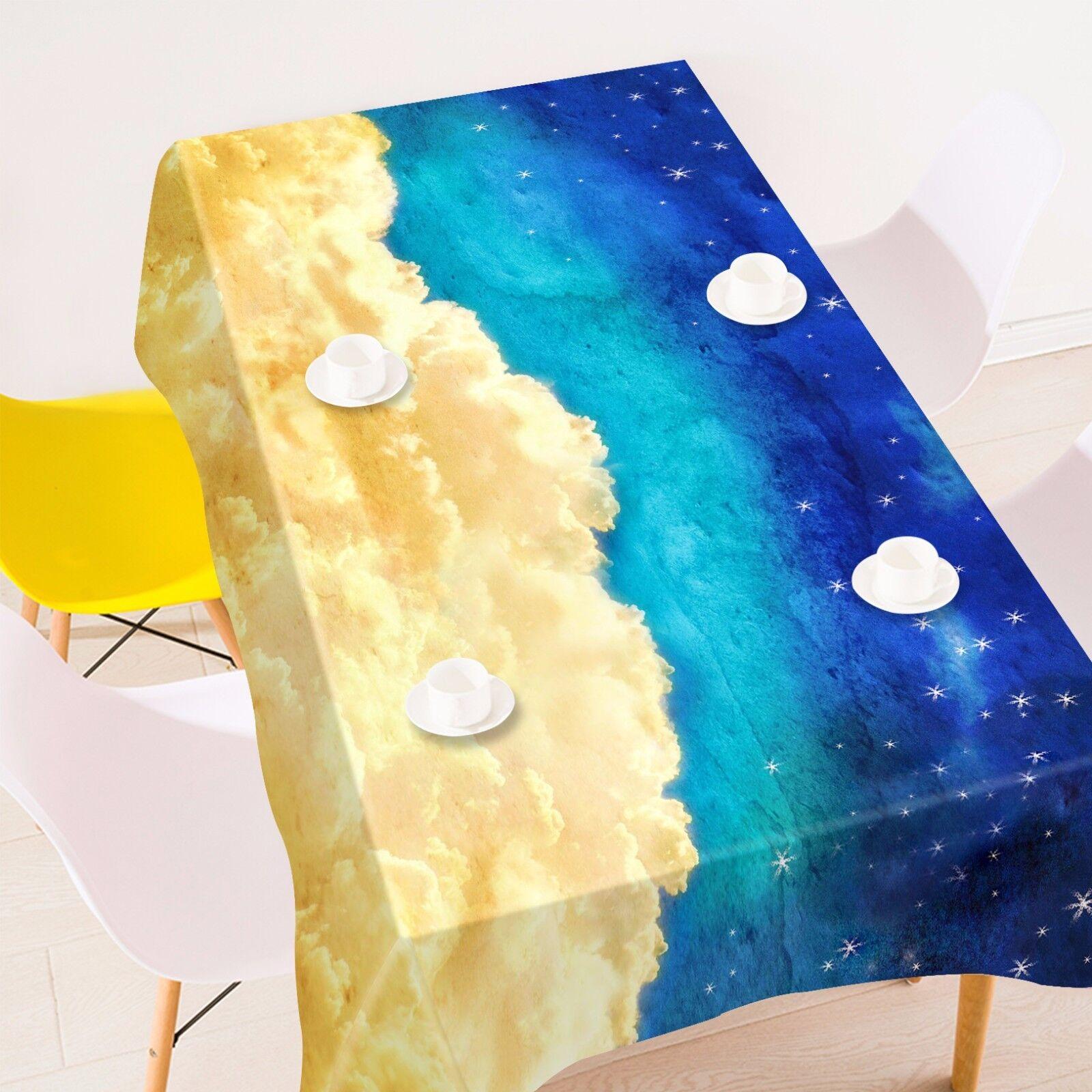 3D NUAGES Star Nappe Table Cover Cloth fête d'anniversaire AJ papier peint Royaume-Uni Citron